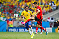 Fortaleza, Brazil - Tuesday, June 17, 2014: Mexico and Brazil are 0-0 ending the first half of World Cup group play at Est&aacute;dio Castel&atilde;o, <br /> <br /> 17/06/2014/MEXSPORT/ROBERTO MAYA <br />  <br /> Estadio Castelao, Fortaleza  , Ceara , Brasil