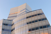 An early morning view of the Frank Gehry designed IAC (InterActiveCorp) Building in the Chelsea neighborhood of Manhattan in New York City, New York