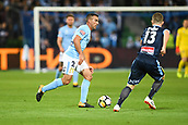 3rd November 2017, Melbourne Rectangular Stadium, Melbourne, Australia; A-League football, Melbourne City FC versus Sydney FC; Manny Muscat of Melbourne City FC runs with the ball