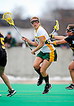 5 April 2008: University of Vermont Catamounts' Midfielder Alison Haigh, a Sophomore from Northborough, MA, in action against the University at Albany Great Danes at Moulton Winder Field, in Burlington, Vermont. With only seconds left in regulation time, the Catamounts rallied to defeat the visiting Danes 11-10 in America East conference play...Mandatory Photo Credit: Ed Wolfstein Photo