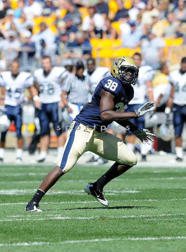 GREG WILLIAMS, of Pitt, in action during the Panthers game against the New Hampshire Wildcats on September 11, 2010 in Pittsburgh, Pennsylvania...Pitt won the game 38-16..