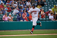Indianapolis Indians Will Craig (25) rounds the bases after hitting a home run during an International League game against the Syracuse Mets on July 16, 2019 at Victory Field in Indianapolis, Indiana.  Syracuse defeated Indianapolis 5-2  (Mike Janes/Four Seam Images)