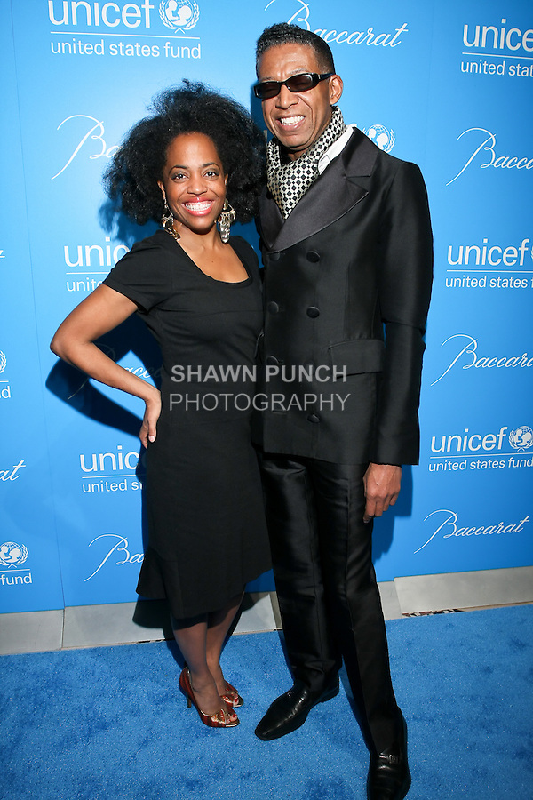Actress Rhonda Ross and fashion designer B Michael  attend the UNICEF Snowflake Ball, Presented by Baccarat, at Cipriani 42nd Street, November 30, 2010.