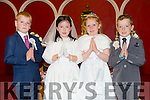 Seán Óg Brosnan,Jane Lynch,Saidbh Caddigan and Jack O'Donoghue from Caherleaheen NS had their First communion at the Immaculate Conception Church Rathass on Saturday