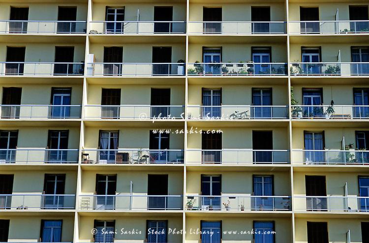 Facade Of A Modern Apartment Building Marseille France Sami