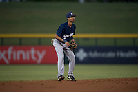 AZL Brewers shortstop Luis Avila (39) during an Arizona League game against the AZL Cubs 1 at Sloan Park on June 29, 2018 in Mesa, Arizona. The AZL Cubs 1 defeated the AZL Brewers 7-1. (Zachary Lucy/Four Seam Images)