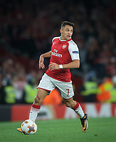 Alexis Sanchez of Arsenal during the UEFA Europa League match between Arsenal and FC Koln at the Emirates Stadium, London, England on 14 September 2017. Photo by Andrew Aleks.