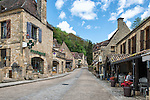 Street view in Beynac-et-Cazenac, a village on the Dordogne River in Perigord, France.