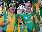 David, Nicola and Peter Carpenter from Grangegeath at the big match on Sunday..Picture Paul Mohan Newsfile