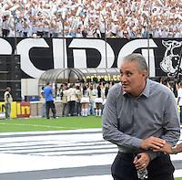 Santos SP, 19 maio 2013 - SANTOS X CORINTHIANS  Tite do Corinthians durante partida contra o Santos na final do campeonato paulista de 2013  no Estadio da Vila Belmiro em Santos, Litoral de  de Sao Paulo, neste domingo , 19. (FOTO: ALAN MORICI / BRAZIL PHOTO PRESS).