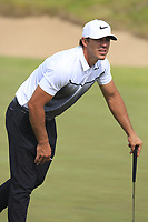 Brooks Koepka (USA) on the 16th green during Wednesday's Practice Day of the 117th U.S. Open Championship 2017 held at Erin Hills, Erin, Wisconsin, USA. 14th June 2017.<br /> Picture: Eoin Clarke | Golffile<br /> <br /> <br /> All photos usage must carry mandatory copyright credit (&copy; Golffile | Eoin Clarke)
