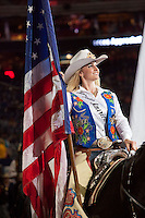 Paige Nicholson, of Pueblo, CO, is Miss Rodeo America, 2014 and was part of the Grand Entrance at RodeoHouston.