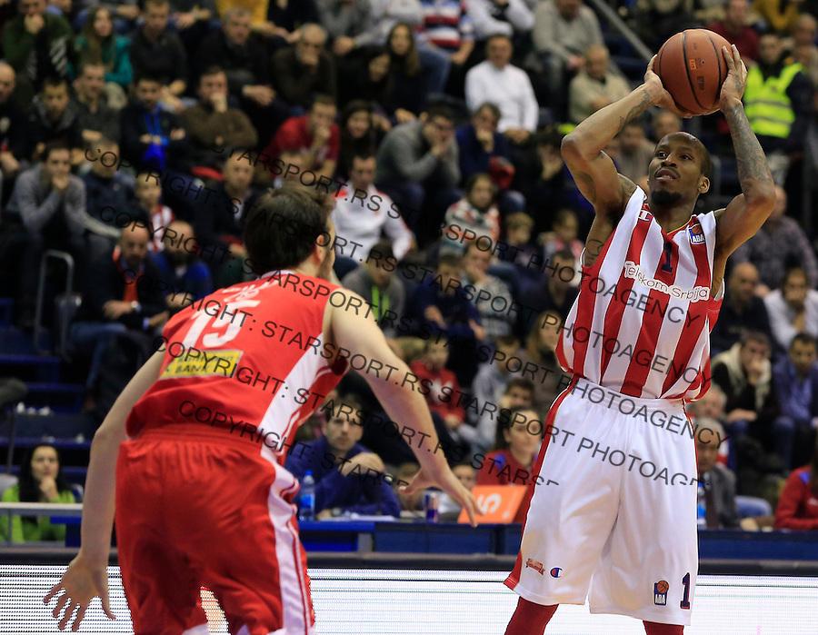 Kosarka ABA League season 2015-2016<br /> Crvena Zvezda v Cedevita<br /> Tarence Kinsey (R) <br /> Beograd, 04.01.2015.<br /> foto: Srdjan Stevanovic/Starsportphoto&copy;