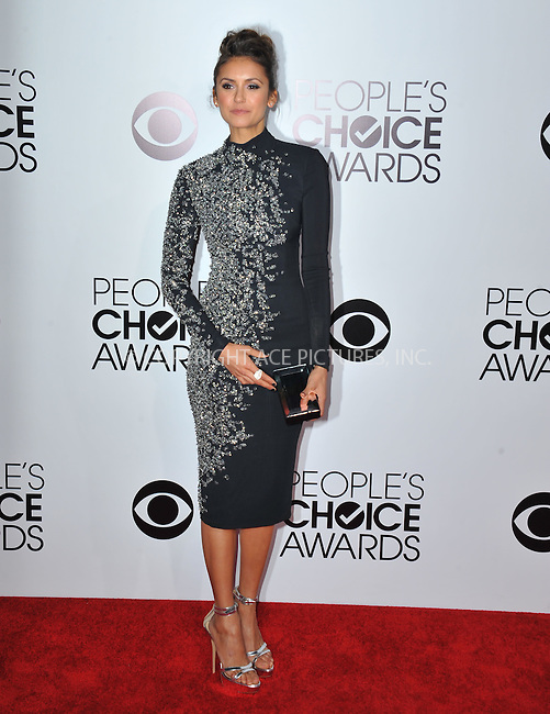 WWW.ACEPIXS.COM<br /> <br /> <br /> January 8, 2014, Los Angeles, CA.<br /> <br /> Nina Dobrev arriving atThe 40th Annual People's Choice Awards held at Nokia Theatre L.A. Live on January 8, 2014 in Los Angeles, California. <br /> <br /> <br /> <br /> <br /> <br /> <br /> By Line: Peter West/ACE Pictures<br /> <br /> ACE Pictures, Inc<br /> Tel: 646 769 0430<br /> Email: info@acepixs.com