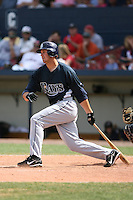 March 20th 2008:  Evan Longoria of the Tampa Bay Devil Rays during a Spring Training game at Chain of Lakes Park in Winter Haven, FL.  Photo by:  Mike Janes/Four Seam Images