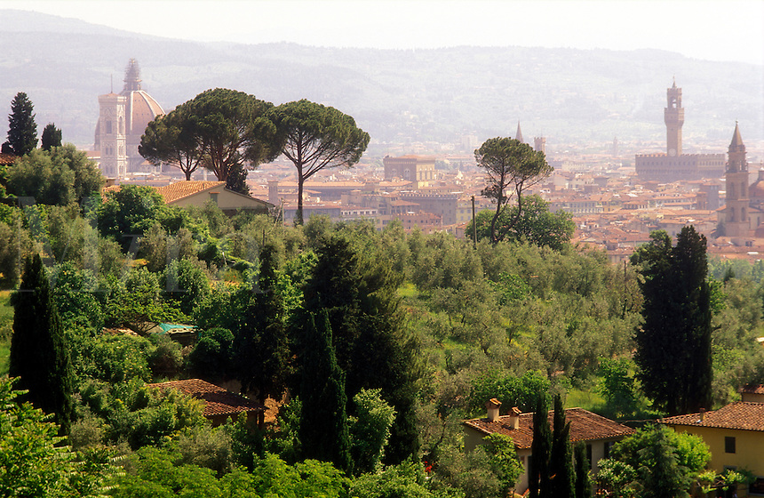 Italy, Florence, Tuscany, View of Florence skyline