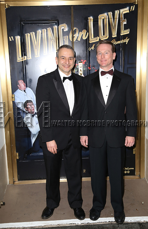 Joe DiPetro and Joe McCracken attend the Broadway Opening Night Performance of  'Living on Love'  at  The Longacre Theatre on April 20, 2015 in New York City.