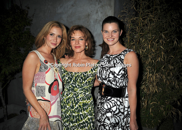 "Ashley Jones, Robin Riker and Heather Tom of ""Bold and Beautiful"".at The Daytime for Planned Parenthood Event on .June 18, 2008 at The Cosmos Lofts Rooftop hosted by Heather Tom in Hollywood, California. ..Robin Platzaer, Twin Images"