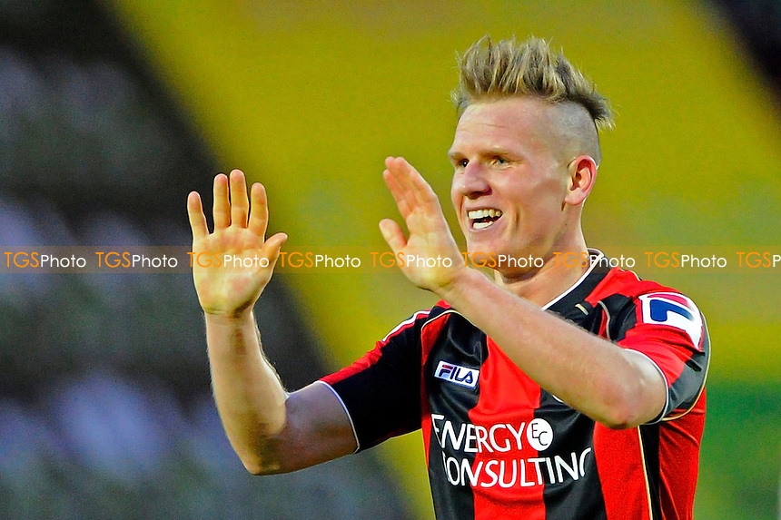 High fives for AFC Bournemouth Matt Ritchie of AFC Bournemouth- AFC Bournemouth vs Yeovil Town - Sky Bet Championship Football at the Goldsands Stadium, Bournemouth, Dorset - 26/12/13 - MANDATORY CREDIT: Denis Murphy/TGSPHOTO - Self billing applies where appropriate - 0845 094 6026 - contact@tgsphoto.co.uk - NO UNPAID USE