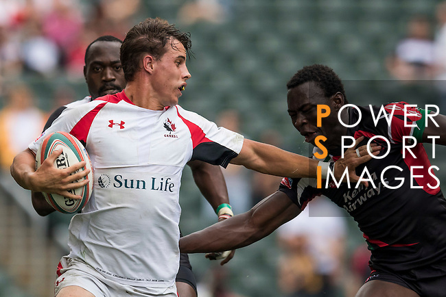 Canada vs Kenya during the HSBC Sevens Wold Series Bowl Quarter Finals match as part of the Cathay Pacific / HSBC Hong Kong Sevens at the Hong Kong Stadium on 29 March 2015 in Hong Kong, China. Photo by Xaume Olleros / Power Sport Images