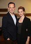 "Harry Hadden-Paton and Rebecca Night attends the ""My Fair Lady"" Re-Opening Celebration at the Vivian Beaumont Theatre on January 27, 2019 in New York City."