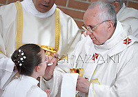 Pope Francis during his pastoral visit to the parish of Saints Elizabeth and Zachary ,  May 26, 2013