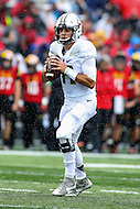 College Park, MD - October 1, 2016: Purdue Boilermakers quarterback David Blough (11) in action during game between Purdue and Maryland at  Capital One Field at Maryland Stadium in College Park, MD.  (Photo by Elliott Brown/Media Images International)