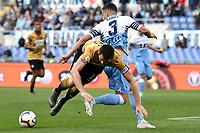 Kevin Lasagna of Udinese , Luiz Felipe of Lazio <br /> Roma 17-4-2019 Stadio Olimpico Football Serie A 2018/2019 SS Lazio - Udinese <br /> Foto Andrea Staccioli / Insidefoto