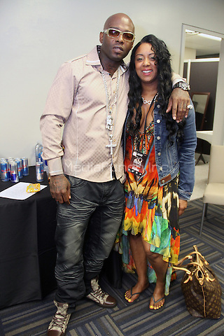 NEW ORLEANS, LA - JULY 5:Treach & Cicely Evans backstage at the 20th Anniversary of the Essence Festival at the Mercedes Benz Superdome, July 5, 2014 in New orleans, Louisiana. Credit: Walik Goshorn/MediaPunch