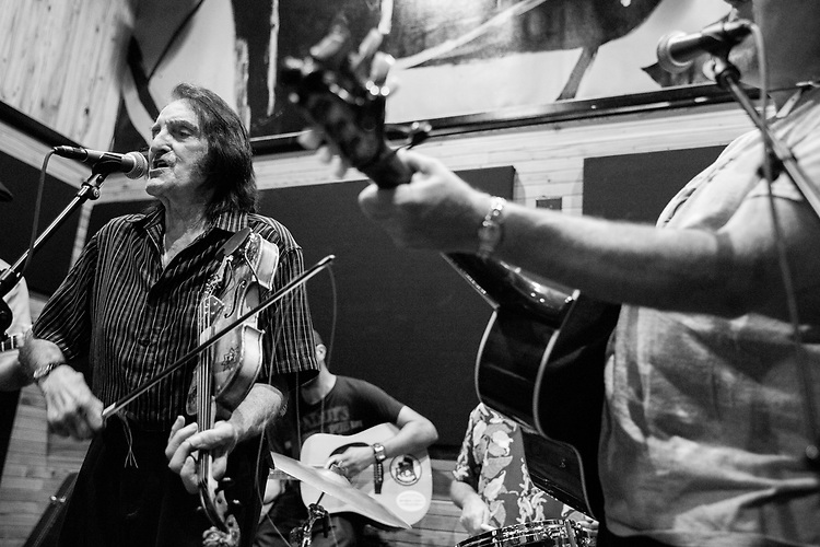 Doug Kershaw at rehearsals for the Ponderosa Stomp on October 06, 2017.