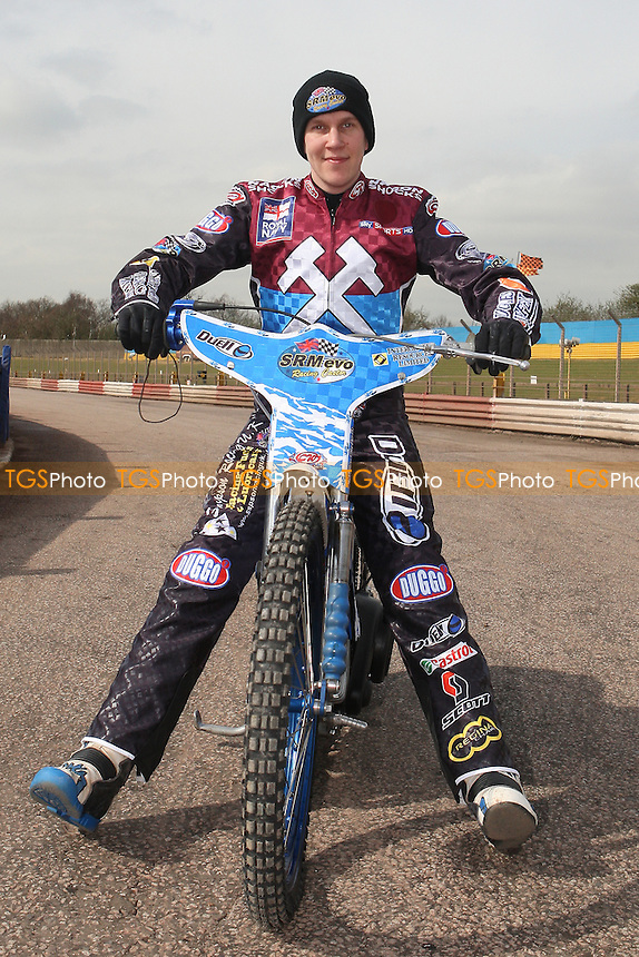 Kauko Nieminen of Lakeside Hammers - Lakeside Hammers Speedway Press & Practice Day at Arena Essex Raceway, Purfleet - 20/03/12 - MANDATORY CREDIT: Gavin Ellis/TGSPHOTO - Self billing applies where appropriate - 0845 094 6026 - contact@tgsphoto.co.uk - NO UNPAID USE.