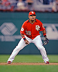 21 June 2008: Washington Nationals' infielder Ronnie Belliard in action against the Texas Rangers at Nationals Park in Washington, DC. The Rangers defeated the Nationals 13-3 in the second game of their 3-game inter-league series...Mandatory Photo Credit: Ed Wolfstein Photo