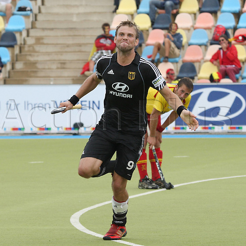 22 08 2011  Field Hockey  European Championship mens 2011 Spain vs Germany goal celebration Germany After the finish for 3 0 Scorer Moritz Germany