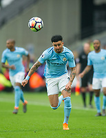 Manchester City Kyle Walker  during the EPL - Premier League match between West Ham United and Manchester City at the Olympic Park, London, England on 29 April 2018. Photo by Andrew Aleksiejczuk / PRiME Media Images.