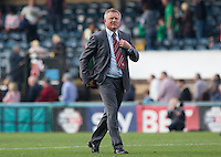Chris Wilder manager of Northampton Town during the Sky Bet League 2 match between Wycombe Wanderers and Northampton Town at Adams Park, High Wycombe, England on 3 October 2015. Photo by Andy Rowland.