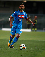 Faouzi Ghoulam  during the  italian serie A soccer match,between Hellas Verona and SSC Napoli  at  the Bentegodi    stadium in Verona  Italy , August 19, 2017
