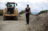 Pictured: Forensic anthropologist and archaeologist Gaille Mackinnon at the second site in Kos, Greece. Thursday 13 October 2016<br />Re: Police teams led by South Yorkshire Police are searching for missing toddler Ben Needham on the Greek island of Kos.<br />Ben, from Sheffield, was 21 months old when he disappeared on 24 July 1991 during a family holiday.<br />Digging has begun at a new site after a fresh line of inquiry suggested he could have been crushed by a digger.
