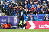 9th September 2017, King Power Stadium, Leicester, England; EPL Premier League Football, Leicester City versus Chelsea; Antonio Conte Manager of Chelsea shouting instructions to his players