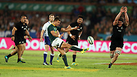 PRETORIA, SOUTH AFRICA - OCTOBER 06: Handre Pollard of South Africa kicking during the Rugby Championship match between South Africa Springboks and New Zealand All Blacks at Loftus Versfeld Stadium. on October 6, 2018 in Pretoria, South Africa. Photo: Steve Haag / stevehaagsports.com