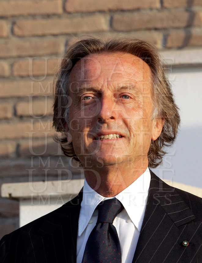 Il presidente della Ferrari e della Fiat Luca Cordero di Montezemolo alla cerimonia per il cambio al vertice dell'Arma dei Carabinieri, a Roma, 23 luglio 2009..Ferrari and Fiat's president Luca Cordero di Montezemolo arrives for a ceremony to celebrate the installation of the new General Commander of the Carabinieri paramilitary police service..UPDATE IMAGES PRESS/Riccardo De Luca