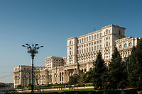 The Palace of Parliament, the largest office building in the world after the Pentagon, Bucharest, Romania