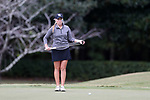 WILMINGTON, NC - OCTOBER 28: Kentucky's Sarah Shipley on the 13th green. The second round of the Landfall Tradition Women's Golf Tournament was held on October 28, 2017 at the Pete Dye Course at the Country Club of Landfall in Wilmington, NC.