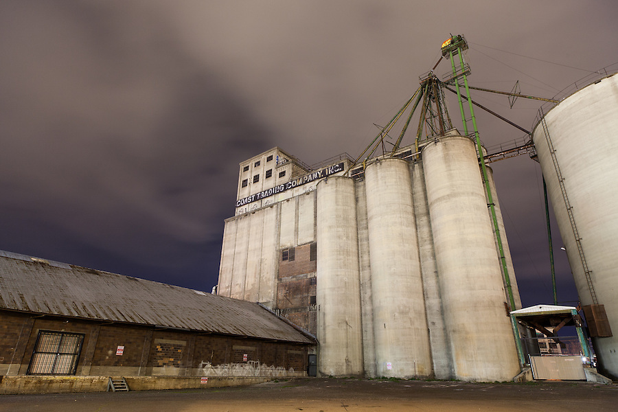 An icon in Spokane since 1929, the Boyd-Conlee grain elevator sits in decay in downtown.