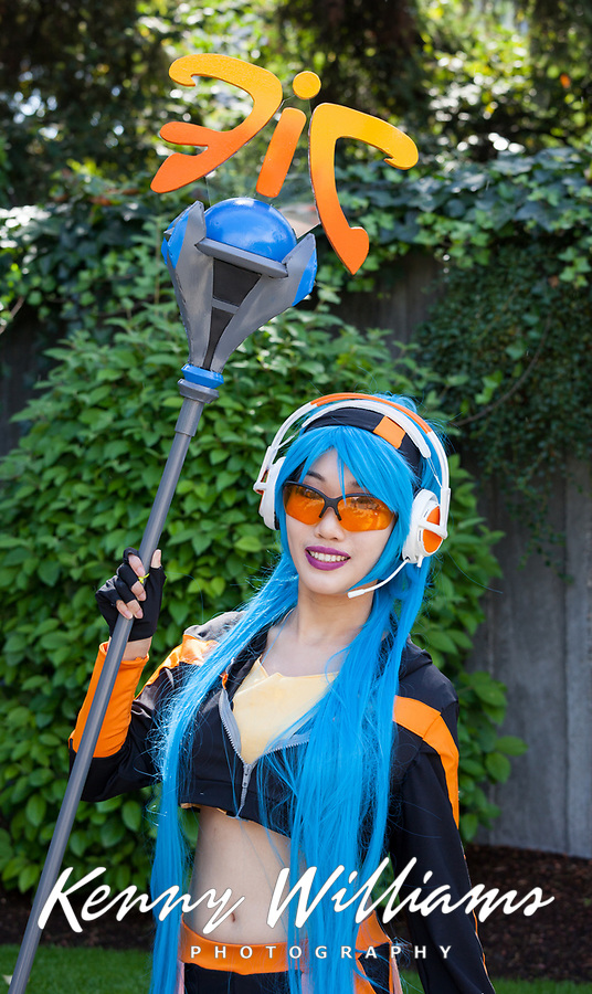 League of Legends Fnatic Janna cosplayed by Azalea Lura, Pax Prime 2015, Seattle, Washington State, WA, America, USA.