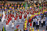 Japan Delegation (JPN), <br /> AUGUST 5, 2016 : <br /> Opening Ceremony <br /> at Maracana <br /> during the Rio 2016 Olympic Games in Rio de Janeiro, Brazil. <br /> (Photo by Yusuke Nakanishi/AFLO SPORT)