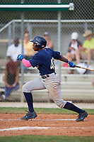 Joseph Jackson Jr (45) during the WWBA World Championship at the Roger Dean Complex on October 12, 2019 in Jupiter, Florida.  Joseph Jackson Jr attends Stephenson High School in Stone Mountain, GA and is Uncommitted.  (Mike Janes/Four Seam Images)