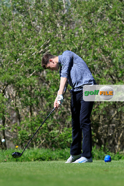 Jamie Fletcher (Warrenpoint) on the 15th tee during Day 1 of The Munster Youths' Amateur Open Championship in Dungarvan Golf Club on Wednesday 23nd April 2014.<br /> Picture:  Thos Caffrey / www.golffile.ie