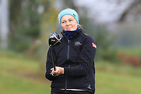 Karen Klubben (NOR) on the 1st tee during Round 1 of the Irish Girls U18 Open Stroke Play Championship at Roganstown Golf &amp; Country Club, Dublin, Ireland. 05/04/19 <br /> Picture:  Thos Caffrey / www.golffile.ie