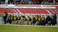 Offenbach, Germany, Friday, April 05 2013: Womans, Germany vs. USA, in the Stadium in Offenbach,   Substitute USA.