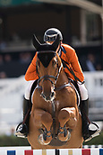 28th September 2017, Real Club de Polo de Barcelona, Barcelona, Spain; Longines FEI Nations Cup, Jumping Final; Michel HENDRIX (NED)  riding Baileys during the first round of the Nations Cup